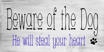 Beware of the Dog he will Steal your Heart 18 x 10