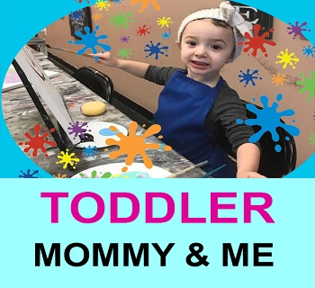 MAY 22ND WEDNESDAY 10:00 - 11:00 ** MOMMY & ME TODDLER PAINT DATE