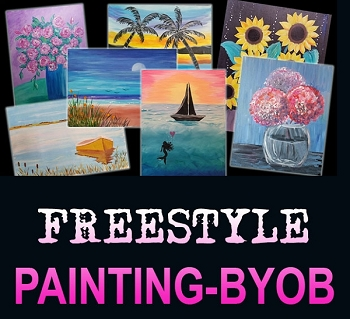 DECEMBER 28TH FRIDAY 6:30 PM ADULT OPEN STUDIO - BYOB AND PAINT