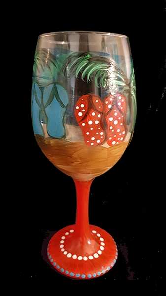 Beach Bums Wine Glasses