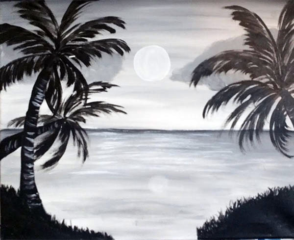 Black and white vacation for White and black paintings