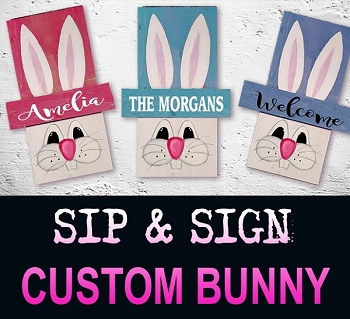 MARCH 5TH TUESDAY 6:30 PM  - RIVER ROCK / EASTER / SPRING BUNNY - PERSONALIZED 18
