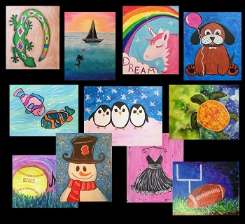 DECEMBER 27TH THURSDAY  10:00 AM FAMILY OPEN STUDIO - PICK YOUR PAINTING  **$20 PER PERSON**