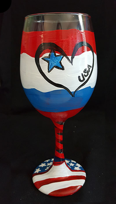 Jersey shore paint and sip art gallery Wine glasses to go