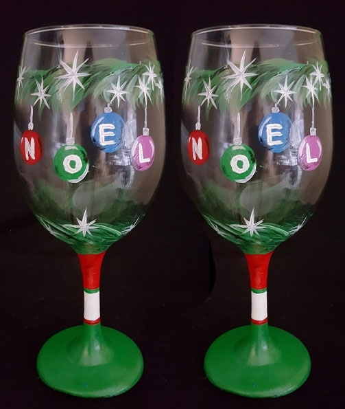 Noel wine glasses