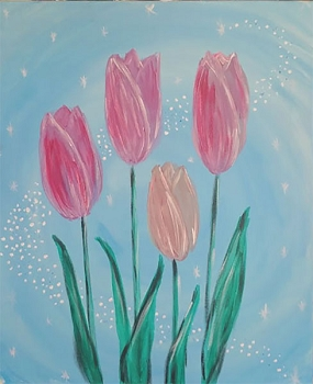 Sparkly Tulips