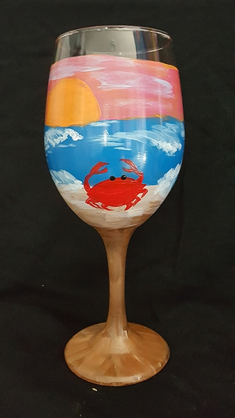 Sandy the Crab Wine Glasses
