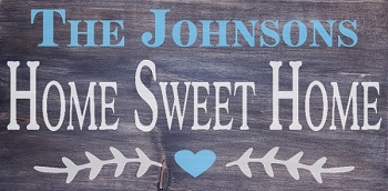 Personalized: Home Sweet Home 18 x 10