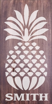 Personalized: Pineapple with Last Name  10 x 18