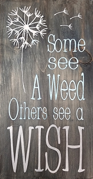 Some See a Weed Others See a Wish 18 x 10