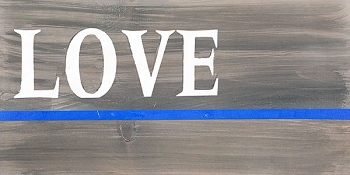 Blue Line - Love 18 x 10