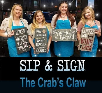OCTOBER 1ST MONDAY - 7:00 PM - CRAB'S CLAW INN