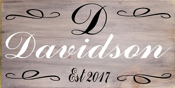 Personalized : Family Fancy Script 18 x 10