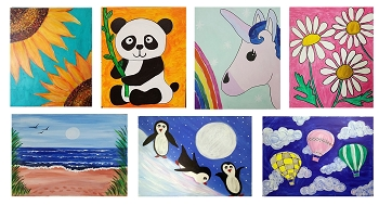 JANUARY 20Th SATURDAY **10:00AM** - FAMILY OPEN STUDIO - PICK YOUR PAINTING  **$20 PER PERSON**
