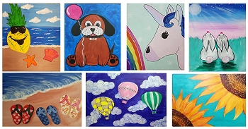 MARCH 17th SATURDAY **10:00 AM** - FAMILY OPEN STUDIO - PICK YOUR PAINTING  **$20 PER PERSON**