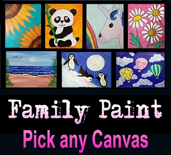 JULY 29th SUNDAY 10:00 AM FAMILY OPEN STUDIO - PICK ANY PAINTING IN OUR GALLERY  **$20 PER PERSON**