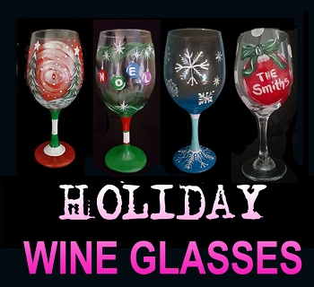 OCTOBER 27TH SATURDAY 6:30PM - BRICK TOWNSHIP STUDIO BYOB  **PAINT 2 HOLIDAY THEMED WINE GLASSES**