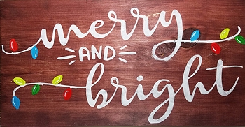 Merry and Bright 18 x 10
