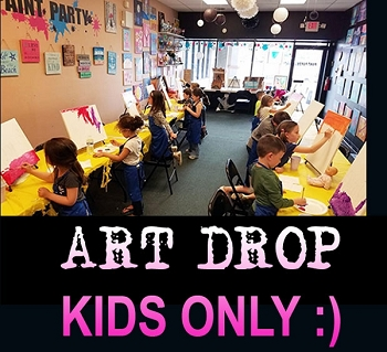 JANUARY 1ST TUESDAY 12:00pm  KIDS ONLY **ART DROP** TAKE A BREAK AND LEAVE THE KIDS TO US!