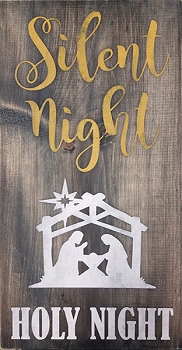 Silent Night Holy Night 18 x 10