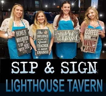 JULY 31st 7:00PM - LIGHTHOUSE TAVERN - SIP & SIGN / OVER 70 CHOICES