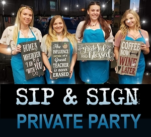 AUGUST 9TH THURSDAY 6:30 PM - CAROLANN'S PRIVATE SIP N SIGN PARTY