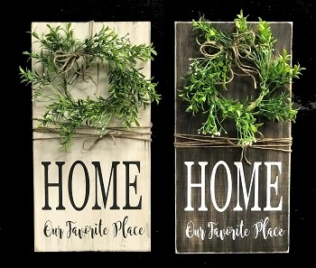 Home is Our Favorite Place - Wreath Sign