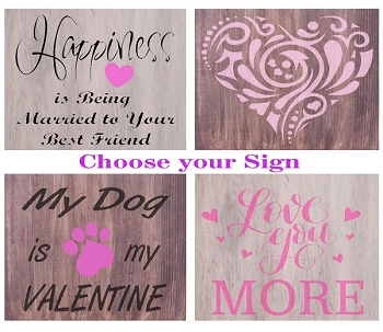 JANUARY 28TH SUNDAY 1:00 PM -  BRICK TOWNSHIP STUDIO BYOB -  CREATE YOUR FAVORITE VALENTINES SIGN 12 X 12