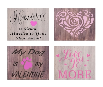 FEBRUARY 11TH SUNDAY 1:00 PM -  BRICK TOWNSHIP STUDIO BYOB -  CREATE YOUR FAVORITE VALENTINES SIGN 12 X 12