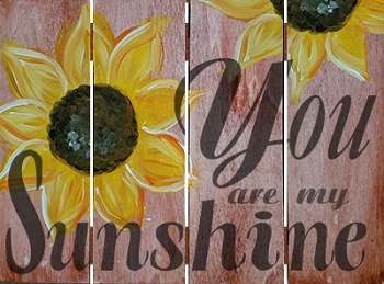 You are my Sunshine - Hanging Wood Pallet