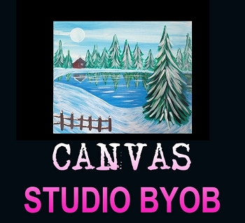 JANUARY 9TH WEDNESDAY 6:30 PM **BYOB STUDIO ** 16 X 20 CANVAS