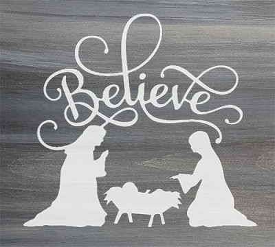 Believe Nativity Scene 12""
