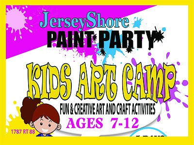 JULY 15TH -19TH **5 DAY ** SUMMER ART CAMP AGES 7-12 MONDAY THRU FRIDAY 9AM TO 12PM