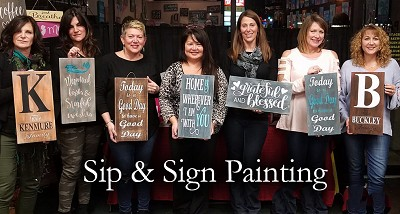 MAY 5TH SATURDAY 12 NOON  - BRICK TOWNSHIP STUDIO BYOB - SIP N SIGN PARTY - CHOOSE FROM OVER 50 SIGNS