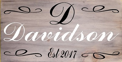 Personalized : Family Fancy Script 18 x 10""