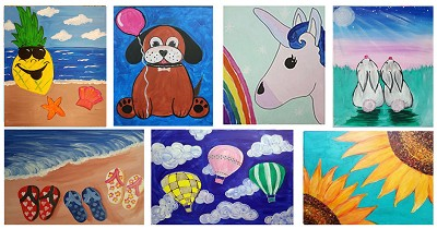JUNE 10TH SUNDAY 1:00 PM FAMILY OPEN STUDIO - PICK YOUR PAINTING  **$20 PER PERSON**