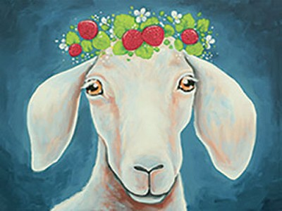 SEPTEMBER 25TH  WEDNESDAY 7:00 PM - GRETA VAN GOAT - 16 X 20 CANVAS PAINTING - BYOB