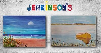 JULY 24TH TUESDAY 7:30PM - JENKINSON'S PAVILION PT PLEASANT BEACH - CANVAS PAINTING