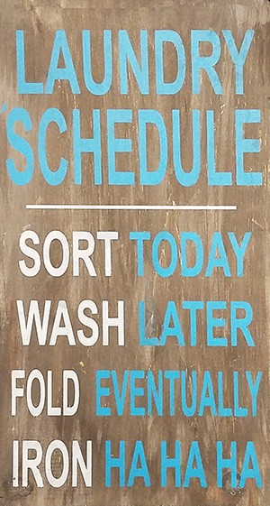 Laundry Schedule - 10 x 18