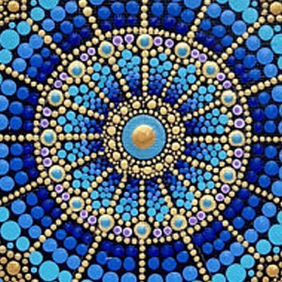 MAY 6TH MONDAY 9:30 AM - ART AS MEDITATION - CREATE A MANDALA  AND CALM YOUR MIND