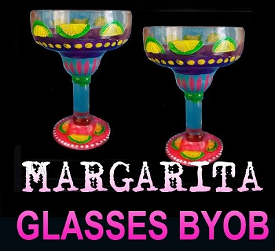 AUGUST 20TH MONDAY 7:00 PM - BRICK TOWNSHIP STUDIO BYOB **PAINT 2 MARGARITA GLASSES**