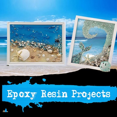 FEBRUARY 15TH SATURDAY 11:00 AM EPOXY SEA GLASS COLLAGE WORKSHOP - CHOOSE YOUR STYLE $55