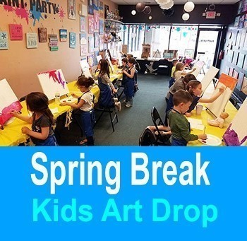APRIL 24TH WEDNESDAY 10:00 AM to 11:30 - KIDS SPRING BREAK **ART DROP**  BRICK TOWNSHIP STUDIO