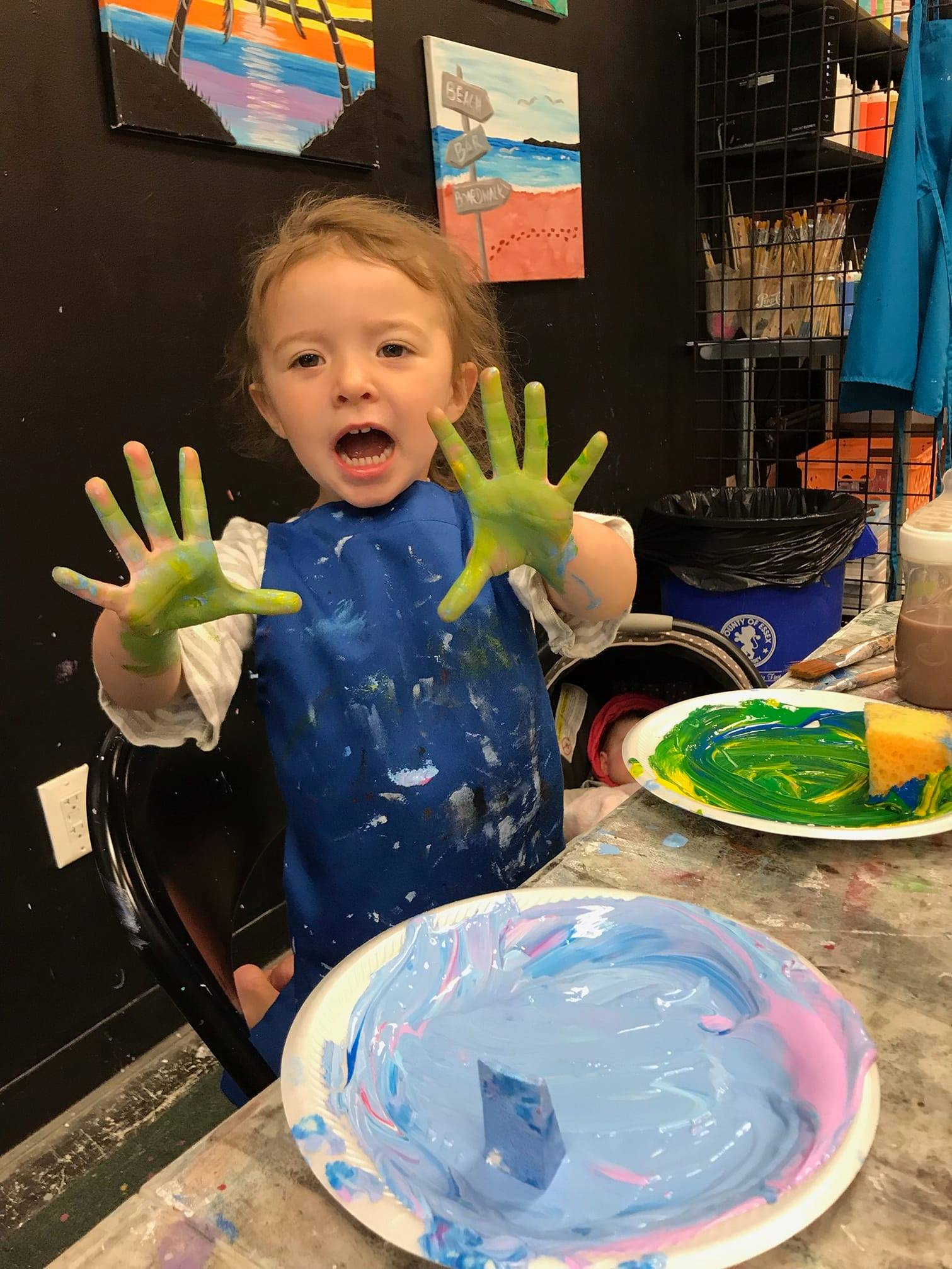 Toddler Paint Party