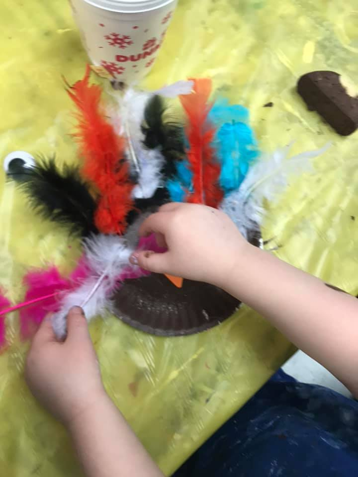 Toddler Feather Craft