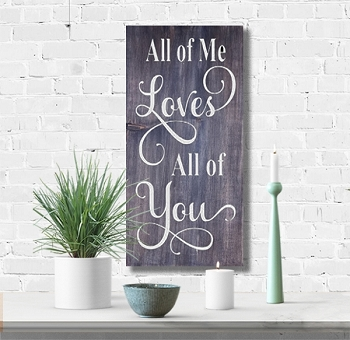 Classic:  All of me Loves all of you