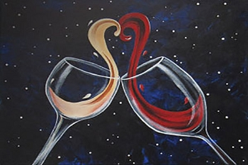 Cheers to Love Acrylic Painting on Canvas Art Kit