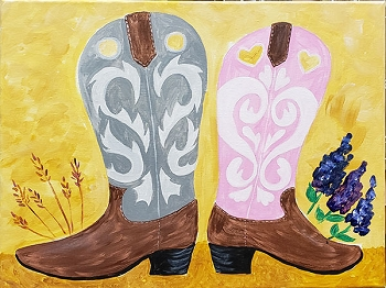 Country Couple Acrylic Painting on Canvas Art Kit