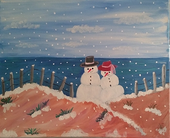 Date on the Dunes - Acrylic Painting on Canvas Art Kit