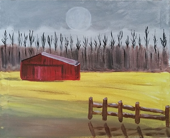 Rustic Barn - Acrylic Painting on Canvas Art Kit